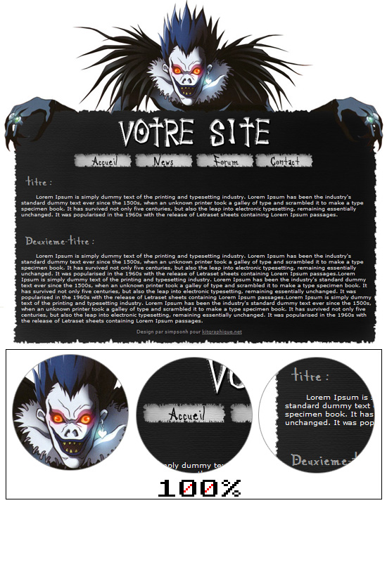 Apercu du kit Graphique death note