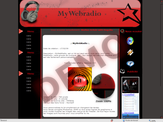 Apercu du kit Graphique MyWebRadio
