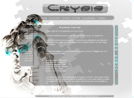 Apercu du kit Graphique Crysis Light
