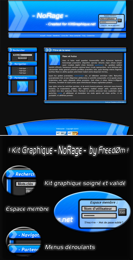 Apercu du kit Graphique NoRage
