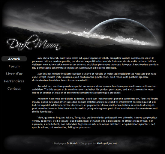 Apercu du kit Graphique Dark Moon