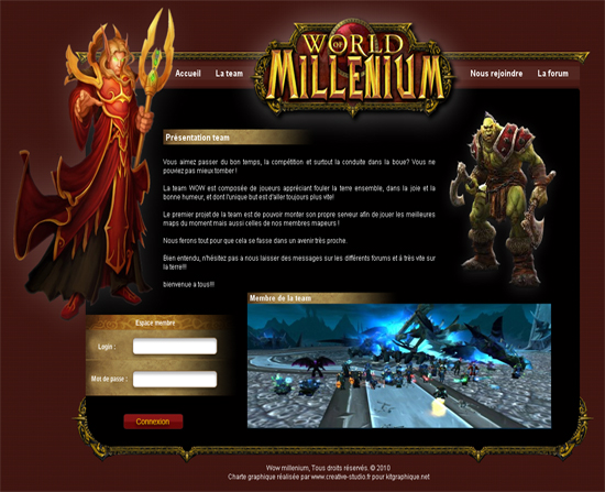 Apercu du kit Graphique WoW : Team millenium