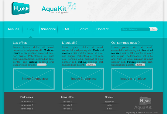 Apercu du kit Graphique Aquakit