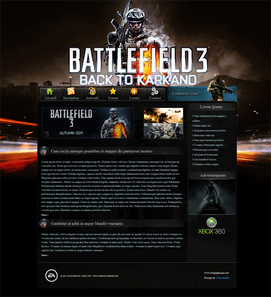 Apercu du kit Graphique Oracle-Bf3