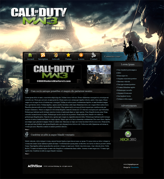 Apercu du kit Graphique Oracle-Mw3