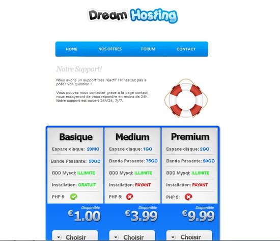 Apercu du kit Graphique Dream Hosting