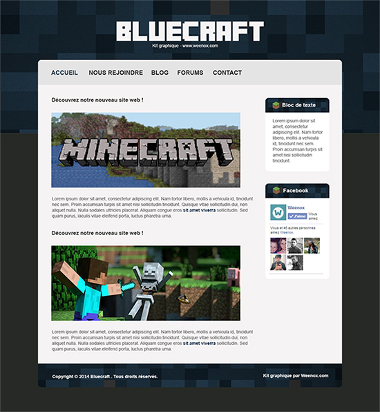 Apercu du kit Graphique Bluecraft