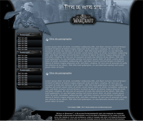 Apercu du kit Graphique Warcraft v1