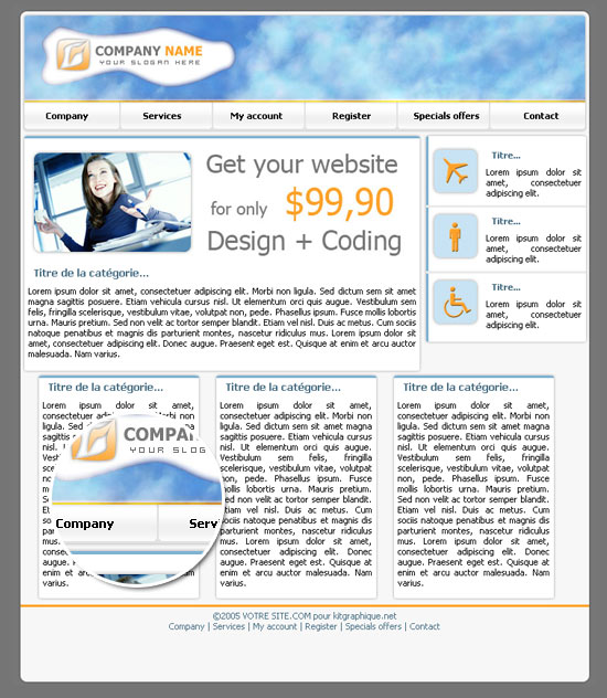 Apercu du kit Graphique Blue sky